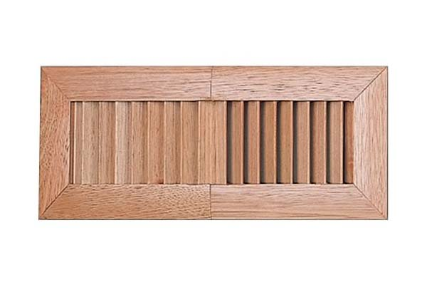 Timber Fixed Blades Floor Register